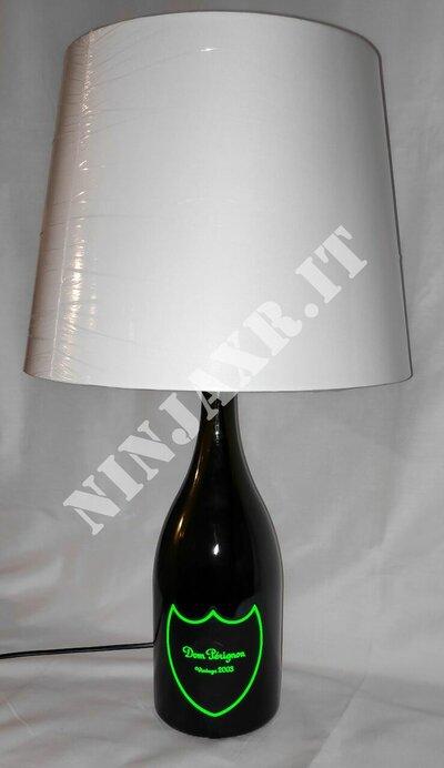 Lampada Bottiglia Dom Perignon Magnum Vintage Champagne Luminous artigianale da arredo