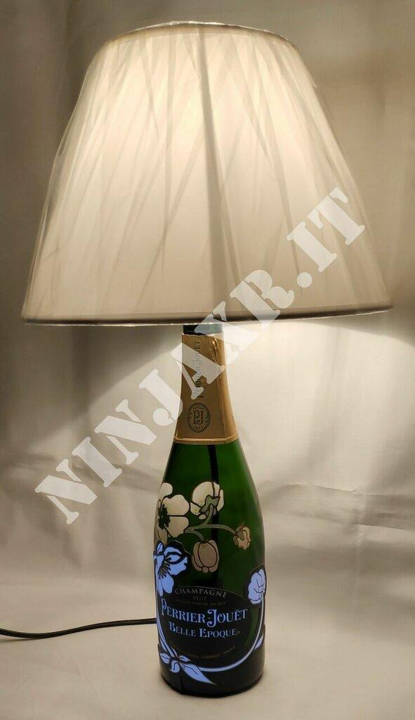 Lampada artigianale da bottiglia vuota Perrier Jouet Belle Epoque Luminous idea regalo