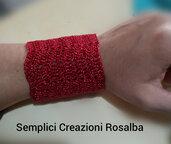 Bracciale uncinetto con filo lurex di diversi colori, elegante e ideale per IDEA REGALO!!!
