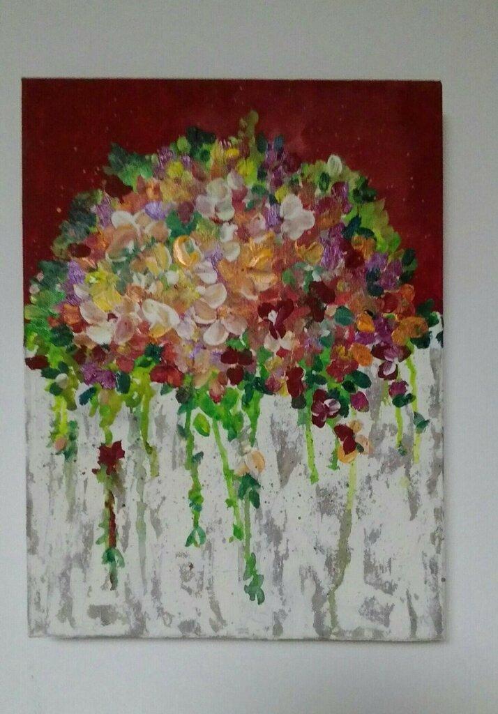 BOUQUET fiori d'estate dipinto