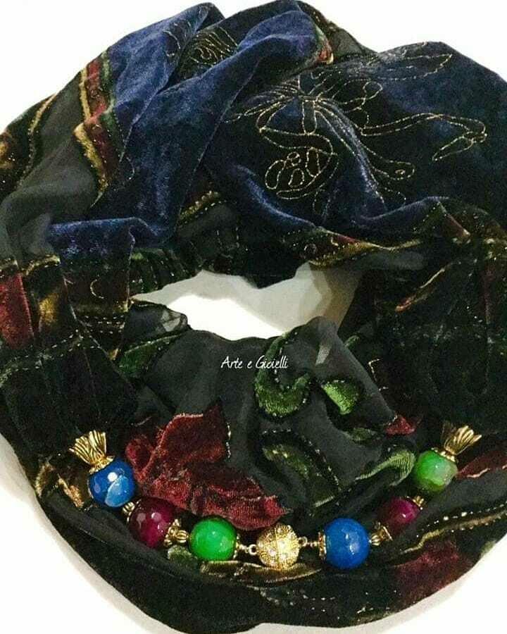 Foulard gioiello in pura seta