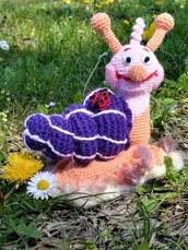 Lumaca pupazzo giocattolo Luca § Hand Knitted Crochet Toys