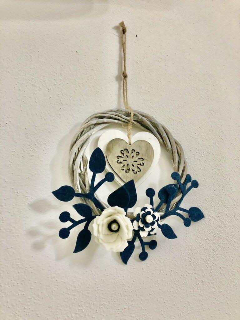 Ghirlanda fiori blu