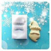 Stampo Babbo Natale per cioccolato, pasta di zucchero, biscotti, caramelle, silicone alimentare, soggetto originale handmade