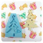 Stampo appendibile Albero di Natale effetto legno per decorazioni natalizie, stampo per resina, per gesso.