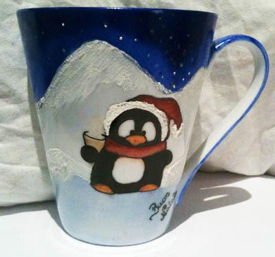 Tazza pinguino delle nevi