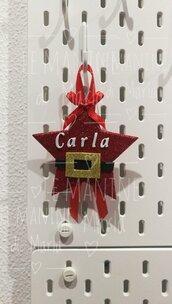 Stella babbo Natale personalizzata