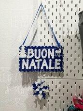 Fuori porta buon Natale blu