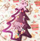 Decorazione albero Natale, primo Natale bambina, palla albero addobbo