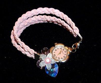 orologio finta pelle rosa swarovski