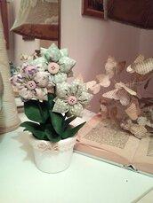 VASETTO tre fiori doppi