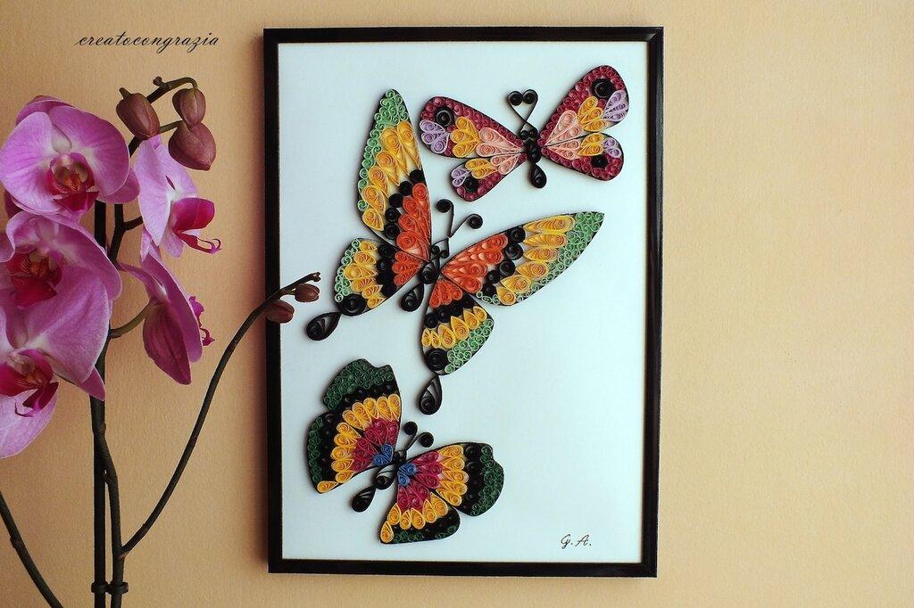 Quadro farfalle colorate