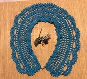 Colletto Uncinetto azzurro