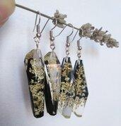 Orecchini lunghi orecchini donna ciondolo resina fiori veri fiori di campo orecchini fatti a mano