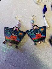 orecchini artigianali con pietre
