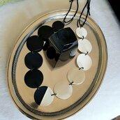Collana Cartoncino  Bianco e Nero