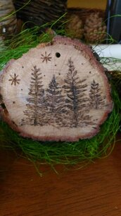 decorazione natalizia in legno