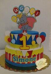Torta scenografica torta finta torta de dumbo, topolino, lol sorprise