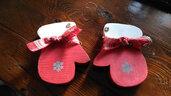 """decorazione natalizia in legno """"guantini gnomo"""""""