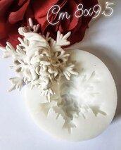 stampo in silicone medaglione natalizio babbo natale
