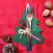 Portaposate Albero Natale in feltro