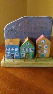 decorazione in legno o portachiavi a parete