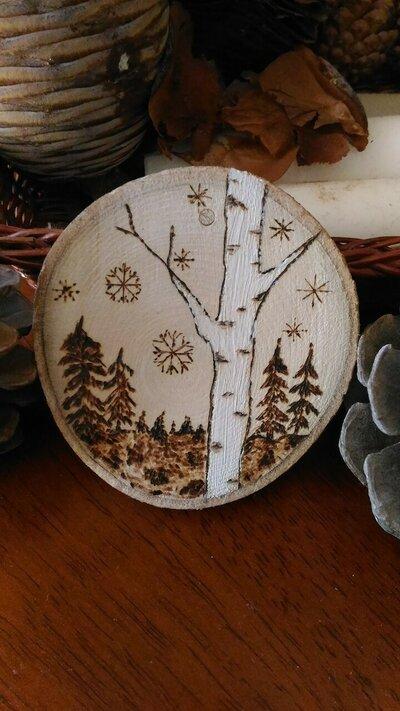 """decorazione in legno effetto naturale """"paesaggio"""""""