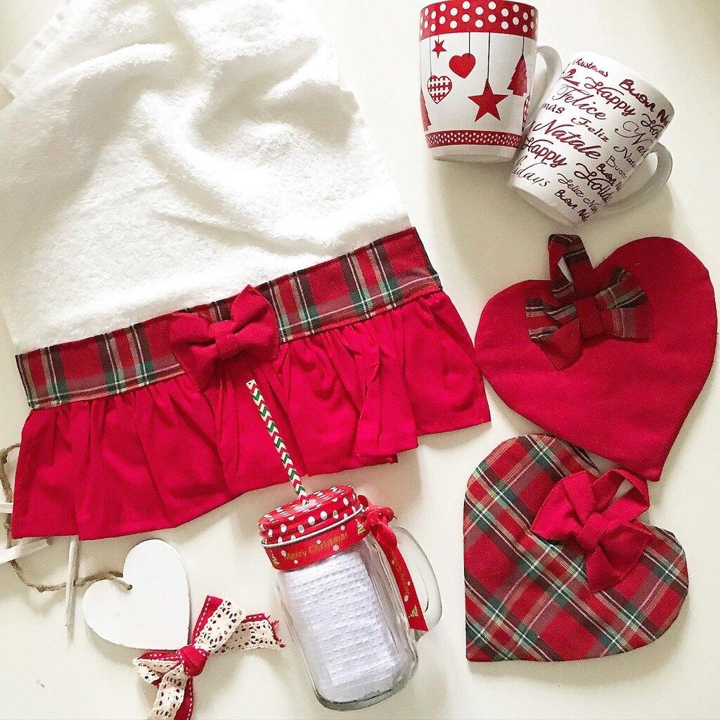 Asciughina+ presine rosso e tartan