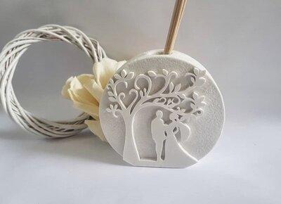 Stampo in silicone profumatore ambiente albero della vita tema matrimonio