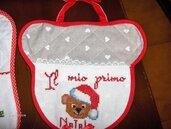 """Bavettine per neonati """"Il mio primo Natale"""", rtutti realizzati completamente a mano"""