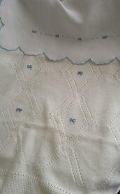 Completo carrozzina in puro lana e puro lino