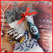 """Orecchini Natale """" Tronchetto natalizio al  cioccolato  """" cioccolatini natalizi idea regalo fimo cernit personalizzabile con clip su richiesta"""