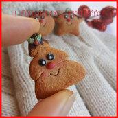"""Spilla Natale """" Biscotto albero di Natale """" fimo cernit kawaii idea regalo"""