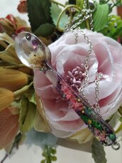 Collana cucchiai floreali , flowers spoon