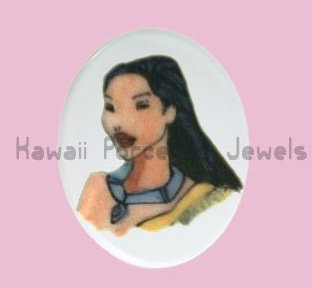 Ciondolo Pocahontas ovale 4.5 cm