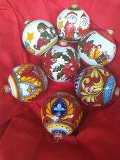 Palline di ceramica di Natale