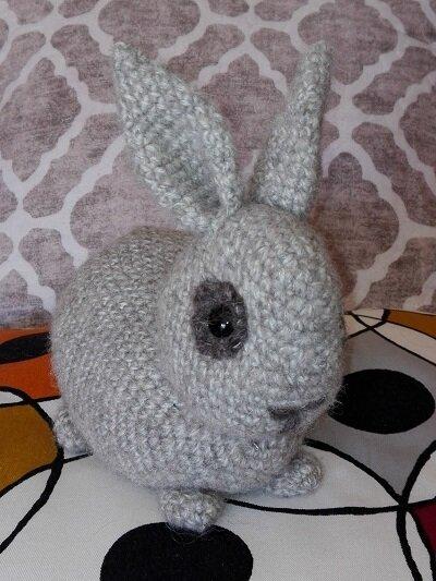 Coniglietto fatto in amigurumi - 100% lana Alpa + Kid Silk -