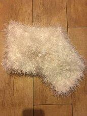Collo maglia rasata pelliccia bianco