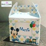 Scatola Mickey mouse topolino nascita - battesimo - primo compleanno