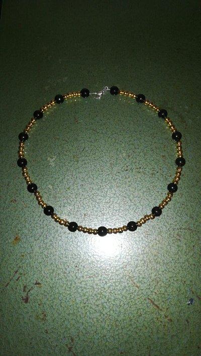 Collana oro nera