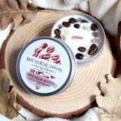 candela di soia al caffè e onice grigia