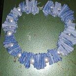 Collana jeans perle