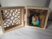 Presepe artigianale in scatola