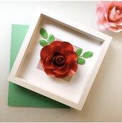 Quadro decorativo con fiori di carta