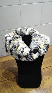 Scaldacollo in lana pelliccia