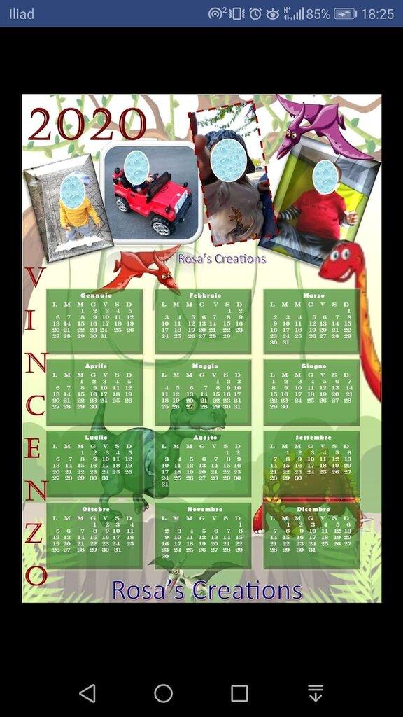 Calendario 2020 personalizzato digitale