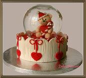 Cake topper o centrotavola di natale, idea regalo per le feste.