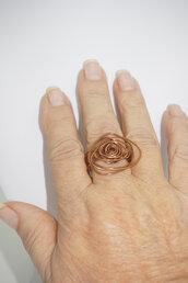 anello in rame misura  a spirale, misura 22