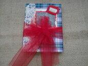 Diario di Natale, taccuino, diario fatto a mano, Christmas Junk Journal, Agenda