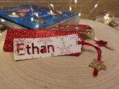Segnalibro natalizio personalizzato con nome.